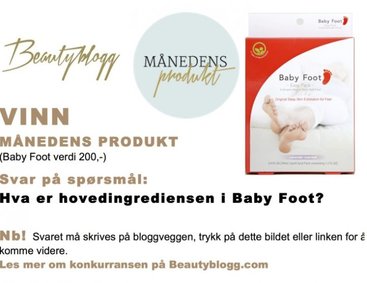 Vinn månedens produkt, Baby Foot.