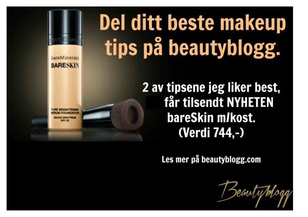 Beautyblogg gir bort 2 bareSkin m/kost. BLI MED!