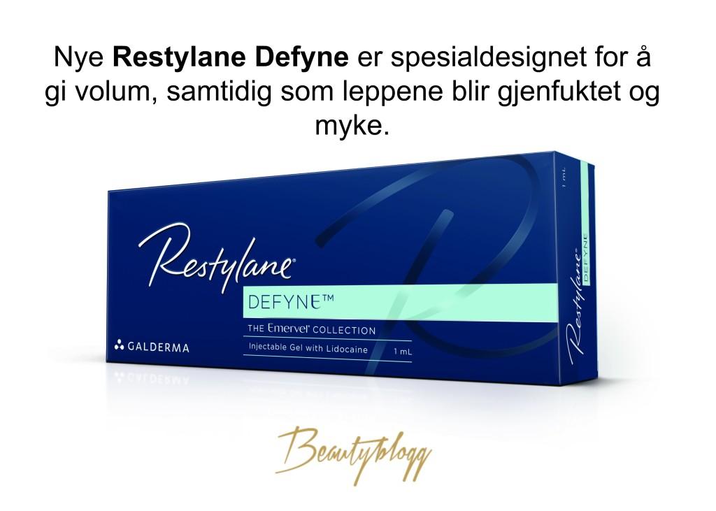Nye Restylane Defyne Beautyblogg Signaturklinikken