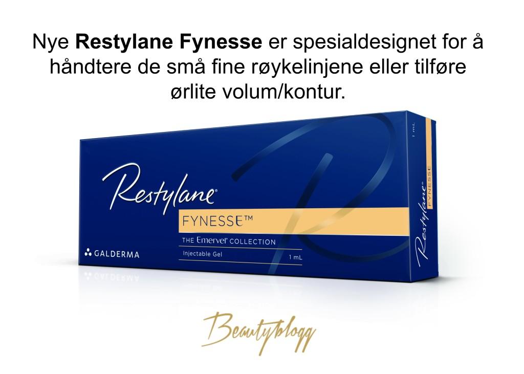 Nye Restylane Fynesse Beautyblogg Signaturklinikken